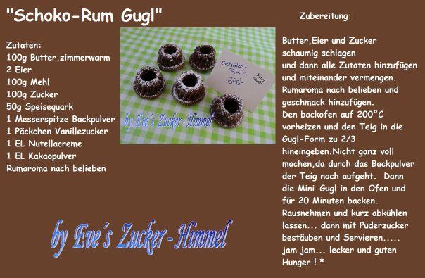 Schoko-Rum Gugl rezept