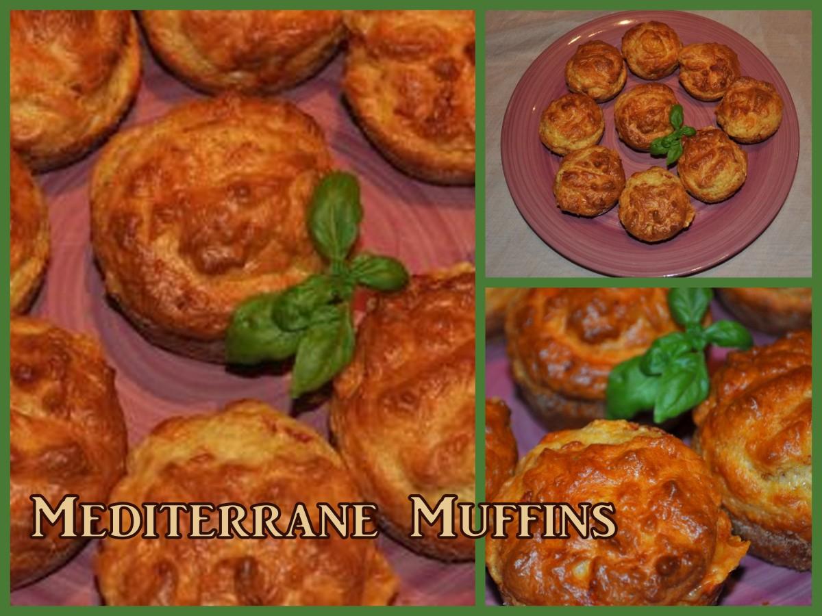 Partytime - mediterrane Muffins und ein wahres Blitzrezept dazu
