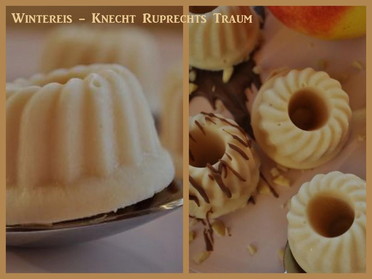 Knecht Ruprechts Traum - Wintereis mit Apfel, Nuss und Mandelkern
