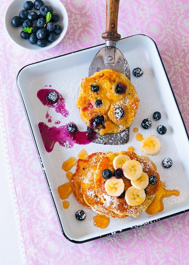 Blaubeer Polenta Pancakes 0010
