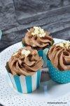 Schokoladencupcakes mit Schokoladenganache mit Rezept